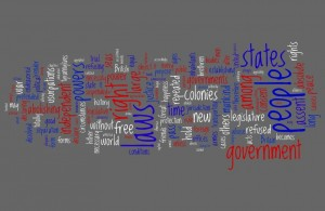 Wordle: Declaration of Independence
